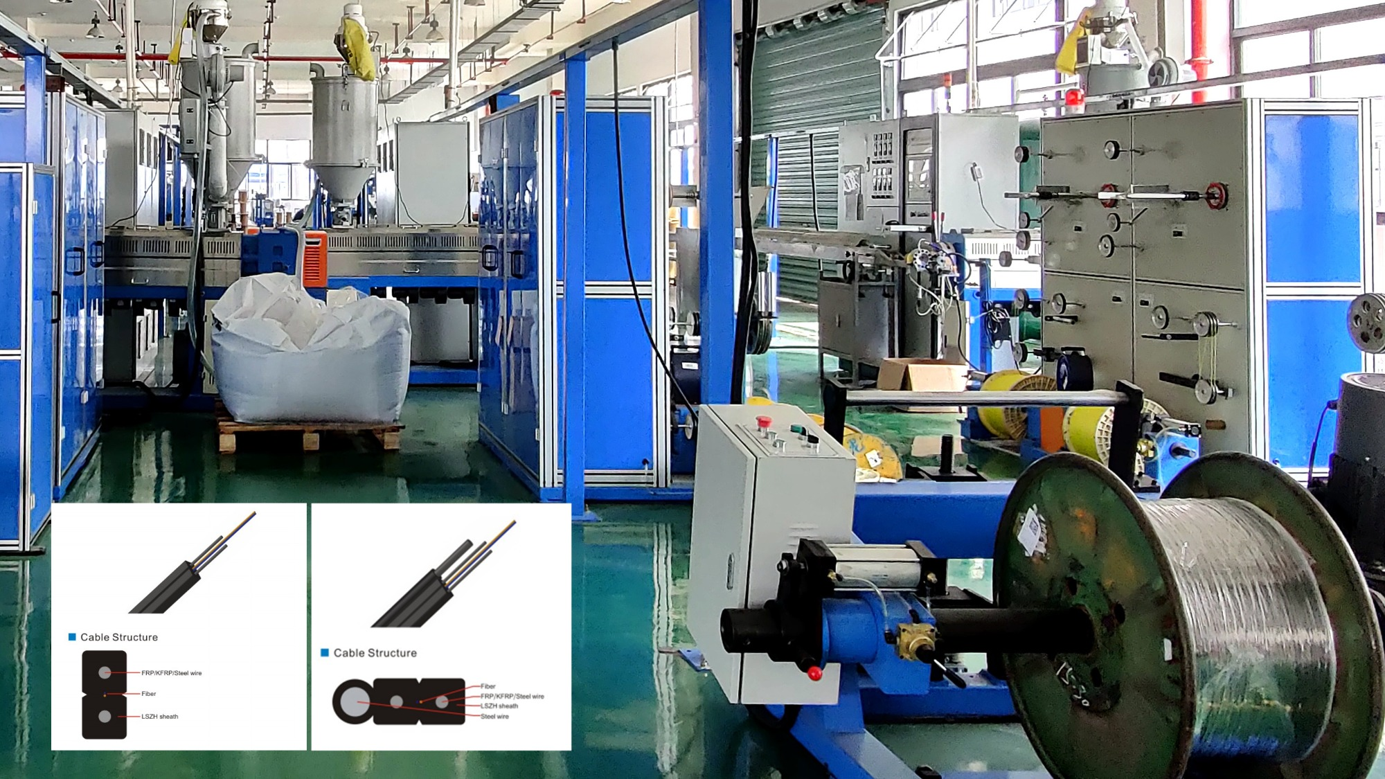 How to produce FTTH drop cable? FTTH Drop Cable Extrusion Line